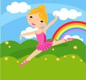 芭蕾逗人喜爱的舞蹈演员 免版税库存照片