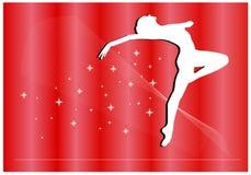 芭蕾魔术明信片向量 库存例证