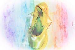 芭蕾Pointe鞋子 库存照片