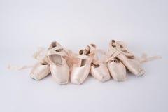 芭蕾pointe鞋子 免版税库存照片