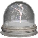 芭蕾snowglobe 免版税图库摄影