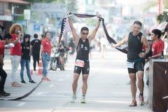 芭达亚三项全能,泰国三同盟游览系列2015年 库存照片