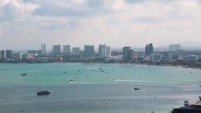 芭达亚市和暹罗湾,泰国全景视图  影视素材