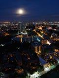 芭达亚市在晚上,泰国 图库摄影