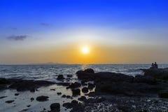芭达亚日落。 图库摄影