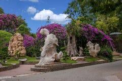 芭达亚泰国百万年化石庭院和鳄鱼公园 免版税库存照片