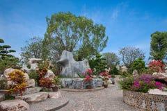 芭达亚泰国百万年化石庭院和鳄鱼公园 免版税库存图片