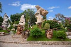 芭达亚泰国百万年化石庭院和鳄鱼公园 图库摄影