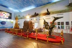 芭达亚浮动市场是普遍的旅行目的地在芭达亚 库存图片