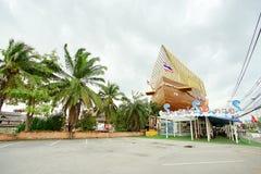 芭达亚浮动市场是普遍的旅行目的地在芭达亚 图库摄影