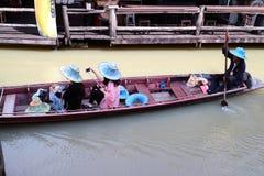 芭达亚浮动市场 库存照片