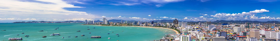 芭达亚海湾 免版税图库摄影
