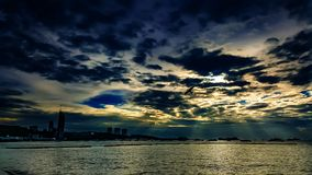 芭达亚海滩泰国 免版税库存照片