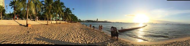 芭达亚海滩 库存照片