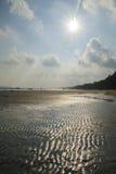芭达亚海滩阳光天 免版税库存照片