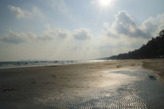 芭达亚海滩阳光天 免版税图库摄影