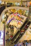 芭达亚,泰国, 2014年1月19日,购物中心中央节日 库存照片