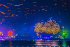 芭达亚,泰国- 2012 1月12月31, 1日2013年:五颜六色 免版税库存图片