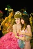 芭达亚 泰国 从蒂凡尼的异性装扮癖展示 免版税库存图片