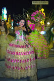 芭达亚 泰国 从蒂凡尼的异性装扮癖展示 免版税库存照片