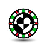 芯片啤牌赌博娱乐场圣诞节新年 象例证在白色容易的EPS 10分离背景 站点的用途, de 库存例证