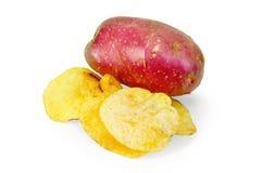 芯片用红色土豆 库存照片
