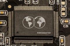 芯片组判决-世界大师 库存照片