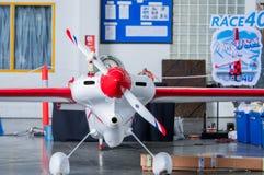 芯片Mapoles没有` s的飞机 40个`美国小姐`航空器塑造在空气种族1世界杯泰国的Cassutt Slipknot 2017年在U-Tapao空军基地 免版税库存图片