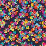 花五现代五颜六色的叶子自由无缝的样式 免版税库存照片