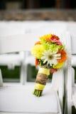 花五颜六色的新娘花束  图库摄影