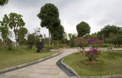 花公园在城市南宁中国春天 免版税库存照片