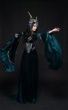 花冠的美丽的幻想矮子妇女 图库摄影