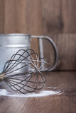 花冠铁,钢杯子,设备 免版税库存图片