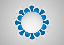 花几何艺术纸图表  与圆的框架的横幅 库存图片