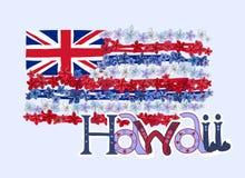 花列伊Hawiian旗子 向量例证