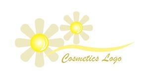 花化妆用品商标 免版税图库摄影