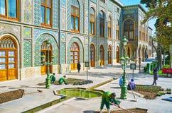 花匠在Golestan,德黑兰 库存图片
