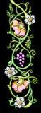 花卉主题葡萄酒 库存例证
