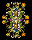 花卉主题葡萄酒 库存照片