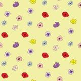 花卉乱画无缝的样式 免版税图库摄影