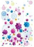 花卉五颜六色的乱画 免版税图库摄影