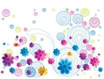 花卉五颜六色的乱画 库存照片