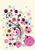 花卉五颜六色的乱画 免版税库存照片