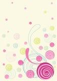 花卉五颜六色的乱画 图库摄影
