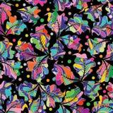 花卉五颜六色的传染媒介无缝的样式 抽象多色bac 免版税库存图片
