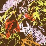 花卉五颜六色的普遍背景 库存例证