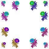 花卉五颜六色的样式背景集合 免版税库存照片