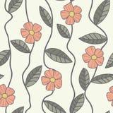 花卉传染媒介样式 无缝的乱画花 库存照片