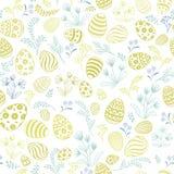 花卉假日样式 复活节彩蛋无缝的背景 免版税图库摄影