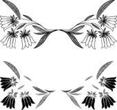 花卉元素,传染媒介例证 免版税库存照片